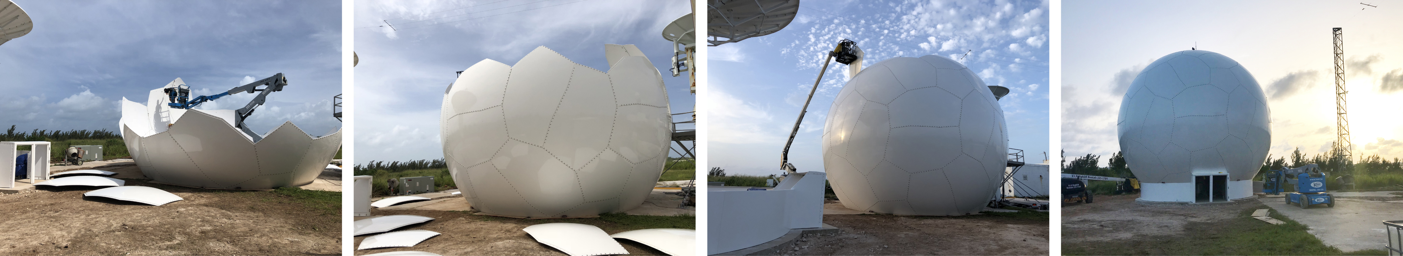 35ft Radome Installation in Bermuda 2018