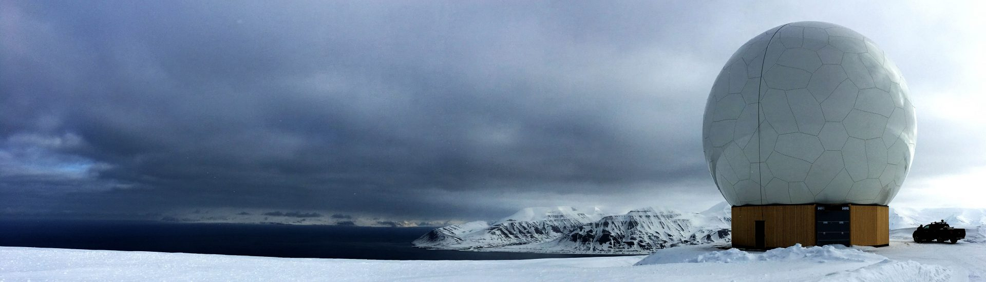 Large Radome in Svalbard